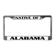 Alabama Native License Plate Frame