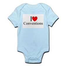 """""""I Love (Heart) Conventions"""" Onesie"""