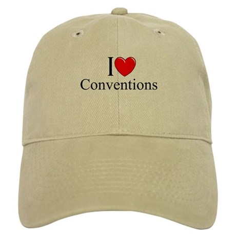 """I Love (Heart) Conventions"" Cap"
