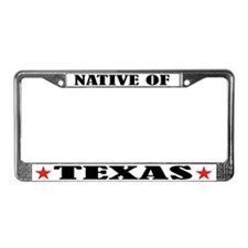 Texas Native License Plate Frame