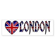 Love London Bumper Bumper Sticker
