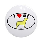 Yellow Lab Euro Oval Ornament (Round)