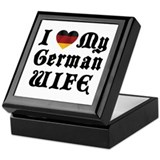 I Love My German Wife Keepsake Box