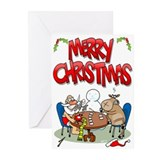 Santa Strip Poker Greeting Cards (Pk of 10)