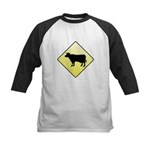 CAUTION! Cattle Crossing Kids Baseball Jersey