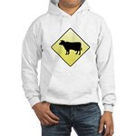 CAUTION! Cattle Crossing Hooded Sweatshirt