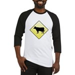 CAUTION! Cattle Crossing Baseball Jersey