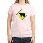 CAUTION! Cattle Crossing Women's Light T-Shirt