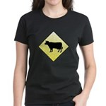 CAUTION! Cattle Crossing Women's Dark T-Shirt