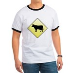 CAUTION! Cattle Crossing Ringer T