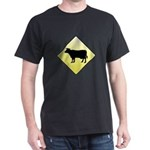 CAUTION! Cattle Crossing Dark T-Shirt