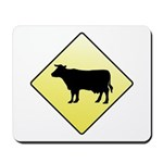 CAUTION! Cattle Crossing Mousepad