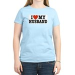 I Love My Husband Women's Pink T-Shirt