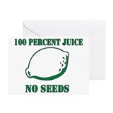 Juice No Seeds Greeting Cards (Pk of 10)