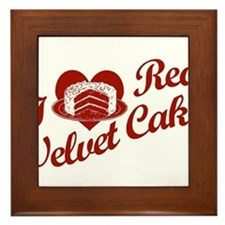 I Love Red Velvet Cake Framed Tile