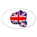 London Terror Attack Oval Sticker