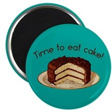 "Time To Eat Cake 2.25"" Magnet (100 pack)"