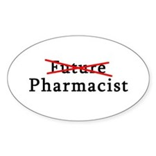 Future Pharmacist No More Oval Sticker (10 pk)