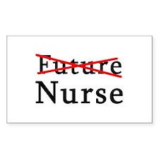 No Longer Future Nurse Rectangle Decal