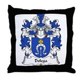 Dolega Family Crest Throw Pillow