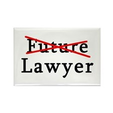 No Longer Future Lawyer Rectangle Magnet