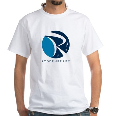 Roddenberry Logo White T-Shirt