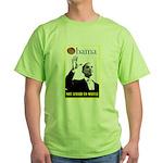 Obama Waffle Green T-Shirt