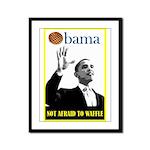 Obama Waffle Framed Panel Print