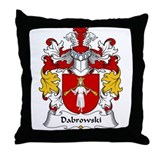 Dabrowski Family Crest Throw Pillow