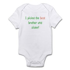 Best Brother and Sister Infant Bodysuit