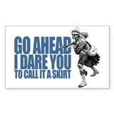 I DARE YOU... Rectangle Decal