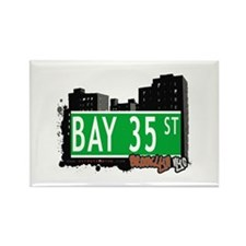 BAY 35 STREET, BROOKLYN, NYC Rectangle Magnet (10