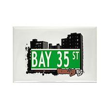 BAY 35 STREET, BROOKLYN, NYC Rectangle Magnet