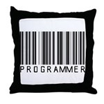 Programmer Barcode Throw Pillow