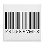 Programmer Barcode Tile Coaster