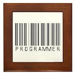 Programmer Barcode Framed Tile