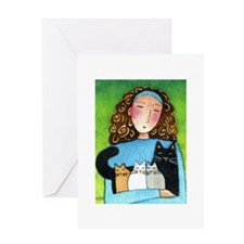 CAT MOM No.16...Purr-fect Day Greeting Card