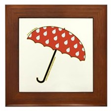 Cute Umbrella Picture2 Framed Tile