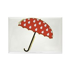 Cute Umbrella Picture2 Rectangle Magnet (100 pack)