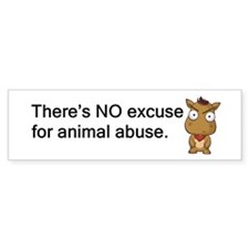 No Excuse Bumper Sticker (50 pk)