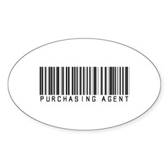 Purchasing Agent Barcode Oval Sticker