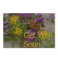 Get Well Desert Flowers Postcards (Package of 8)