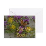 Get Well Desert Flowers Greeting Cards (Pk of 20)