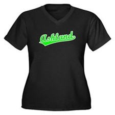 Retro Ashland (Green) Women's Plus Size V-Neck Dar