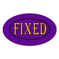 Fixed Oval Decal