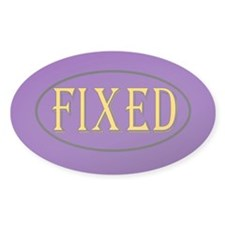 Fixed Oval Sticker (50 pk)
