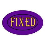 Fixed Oval Sticker (10 pk)