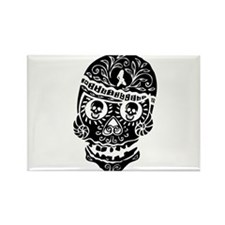Mardi Gras Skull Rectangle Magnet