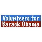 Volunteers for Barack Obama bumper sticker