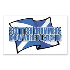 Scottish Drumers Know Where t Sticker (Rectangular